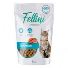 FELLINI POUCH SALMÓN LIGHT 85 GRS